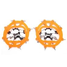 Pinças de neve para sapatos ice creepers ice traction cleats fácil sobre anti deslizamento 8 dentes garra crampons esqui ao ar livre escalada neve