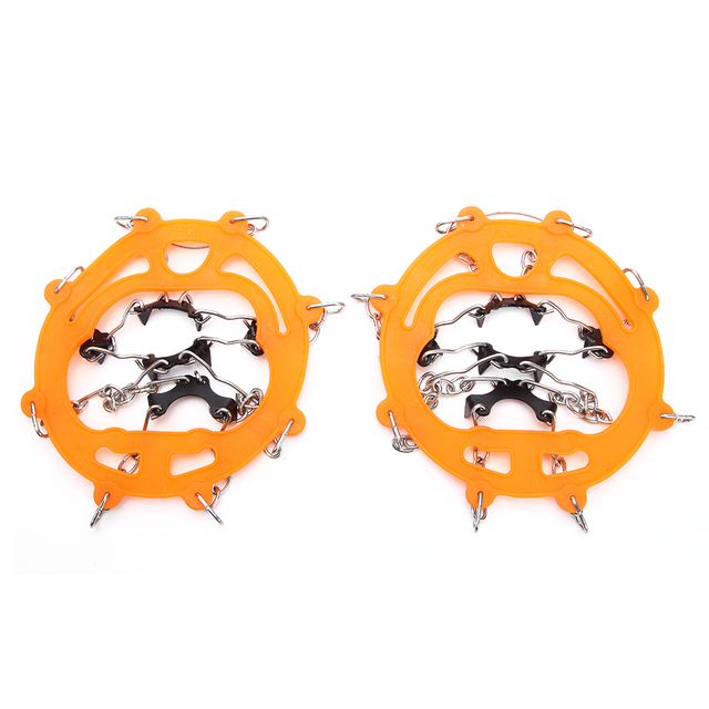 Snow Grippers for Shoes Ice Creepers Ice Traction Cleats Easy Over Anti slip 8 teeth Claw Crampons Outdoor Skiing Climbing Snow