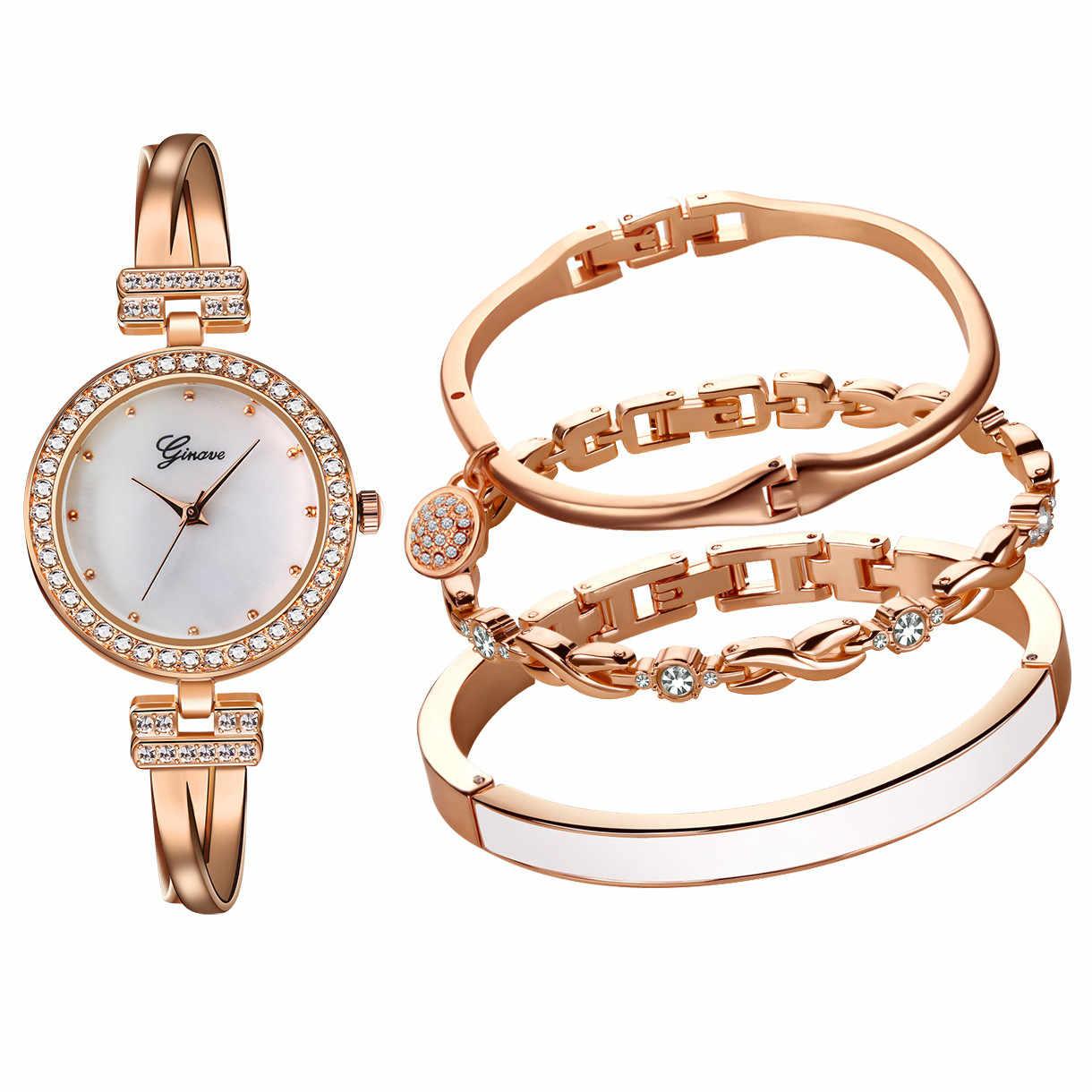 אופנה יוקרה מותג אישה שעונים צמיד נירוסטה אנלוגי קוורץ עגול יד אישה שעונים Reloj Mujer ביאן kol saati