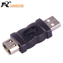 1pc high quality USB 2.0 1394 Female to USB A Male adapter 6 Pin Female Firewire IEEE 1394 to USB Male Adaptor Convertor