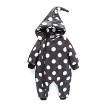 do dower 2018 Winter Pouf Dot Baby Rompers Overalls