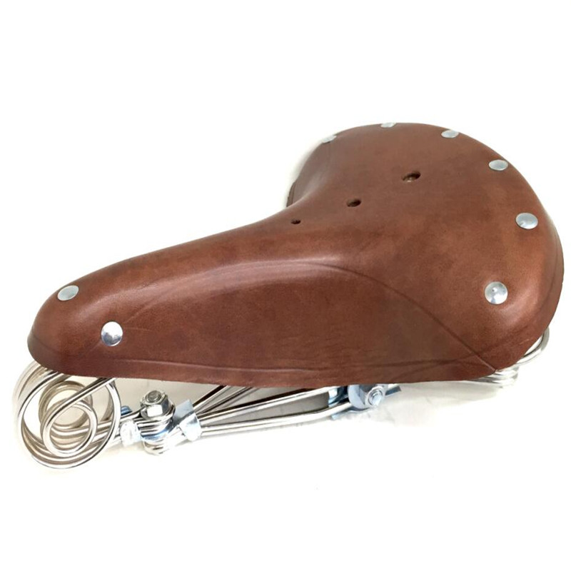 E0980  High quality comfortable and durable restoring ancient ways is old bicycle seat pure leather saddle bicycle accessories e0980  high quality comfortable and