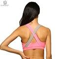 Женщин Сексуальный Бюстгальтер 5 Цвет опционный противоударный нет диски хит цвет дышащая Майка быстросохнущие сетки фитнес женщины бюстгальтер