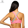 Women Sexy Bra 5 Color optional shockproof no rims hit the color breathable Tank Top quick-drying mesh fitness women bra