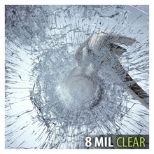 S8MC Film de fenêtre, sécurité et transparence, 8 Mil (36 pouces X 12 pieds)