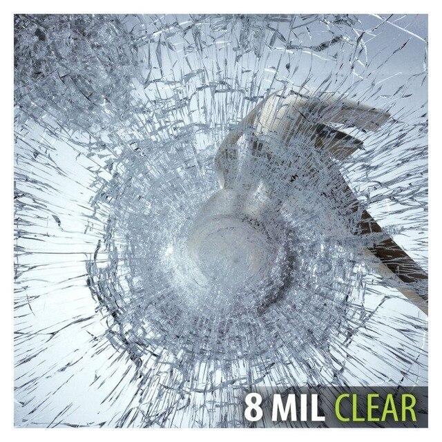 S8MC folia okienna bezpieczeństwo i bezpieczeństwo wyczyść 8 Mil (36 cali X 12 stóp)