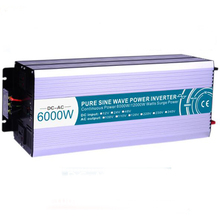 цены 6000W Off Grid Pure Sine Wave Inverter DC24V/48V To AC110V/220V Solar Inverter Voltage Converter