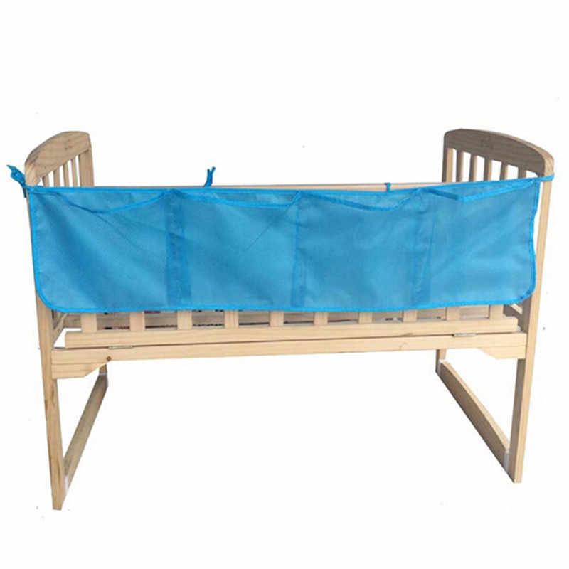 Детская кроватка висит сумка для хранения чистой шпаргалки органайзер для игрушек пеленки сетчатый карман для кроватки Постельное белье накладка на перила кроватки