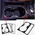100% real Carbon Fiber Cup Holder Decorative Frame Cover Trim Sticker For Audi A4L/A5 2009-2014 Car Styling
