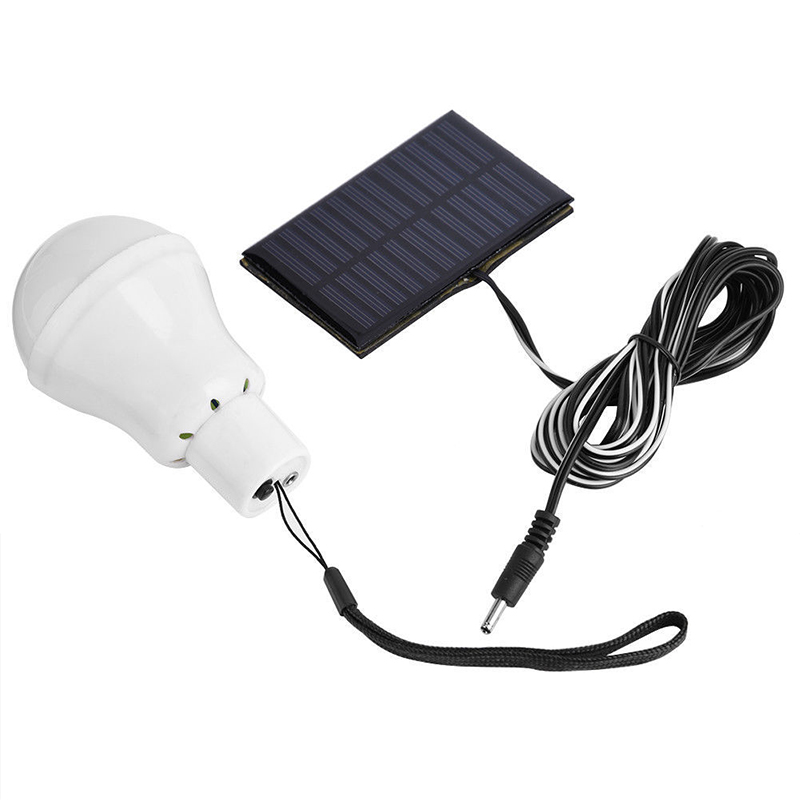 New LED Solar Lamp 3w Solar Energy Saving Bulb Lamp For Camping Tent Fishing Courtyard Emergency Lighting