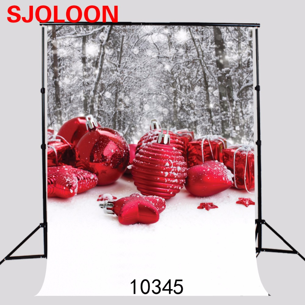 Snow background Red christmas ball photo background Fond studio photo vinyle Photography-studio-backdro Backdrops  150x210cm fond studio photo vinyle foto background photography backdrops autumn wood window photography backdrops