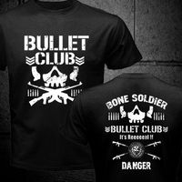 NEW BULLET CLUB NEW JAPAN PRO WRESTLING PURORESU NJPW 2 SIDE BLACK T SHIRT