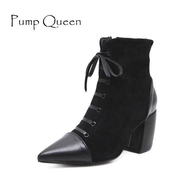 QIN&X Women's Round Toe talons talon bloc de longues bottes Shoes,40,gris