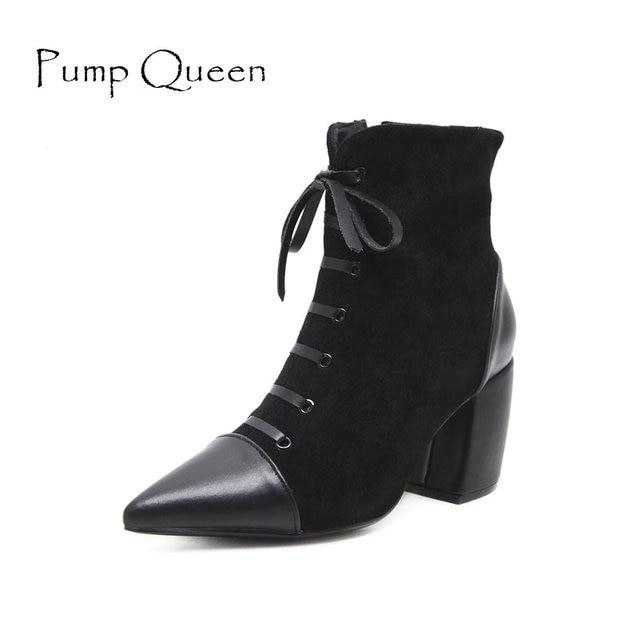 CXQ-Bottes QIN&X Women's Round Toe Talons Talon Bloc Long. Chaussures,Black,43