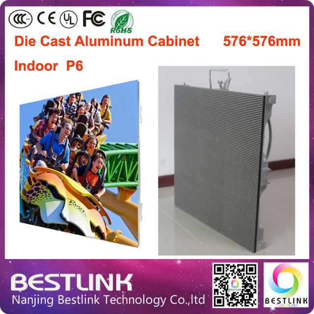 P6 из светодиодов cabient питания литого алюминия из светодиодов витрины 576 * 576 мм с 8 s из светодиодов дисплей модули для rgb крытый из светодиодов экран доска