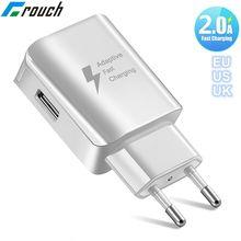Crouch Universal Fast USB Charger EU US UK Plug Travel Wall