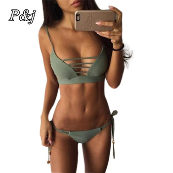 P&j Bikinis Women 2017 Print Floral Bikini Women Swimsuits Brazilian Push Up Bikini Set Bathing Suits Swimwear Female Biquini