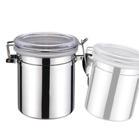 Large Capacity Stainless Steel Sealed Cans Food Storage Jar Spice Tea Leaf Coffee BeansCandy Tank Kitchen