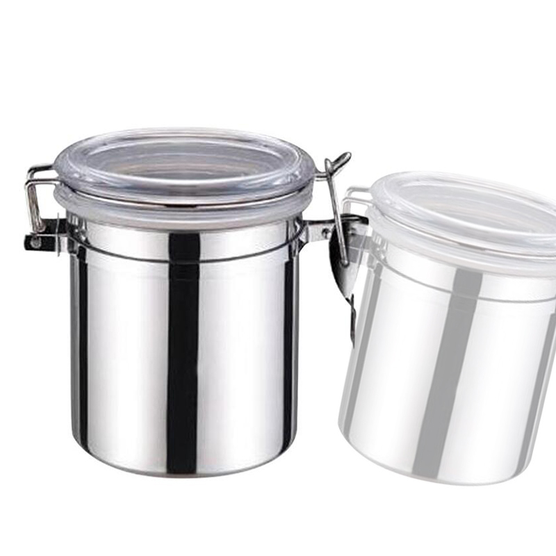 Large Capacity Stainless Steel Sealed Cans / Food Storage Jar Spice Tea Leaf Coffee BeansCandy Tank Kitchen Tools