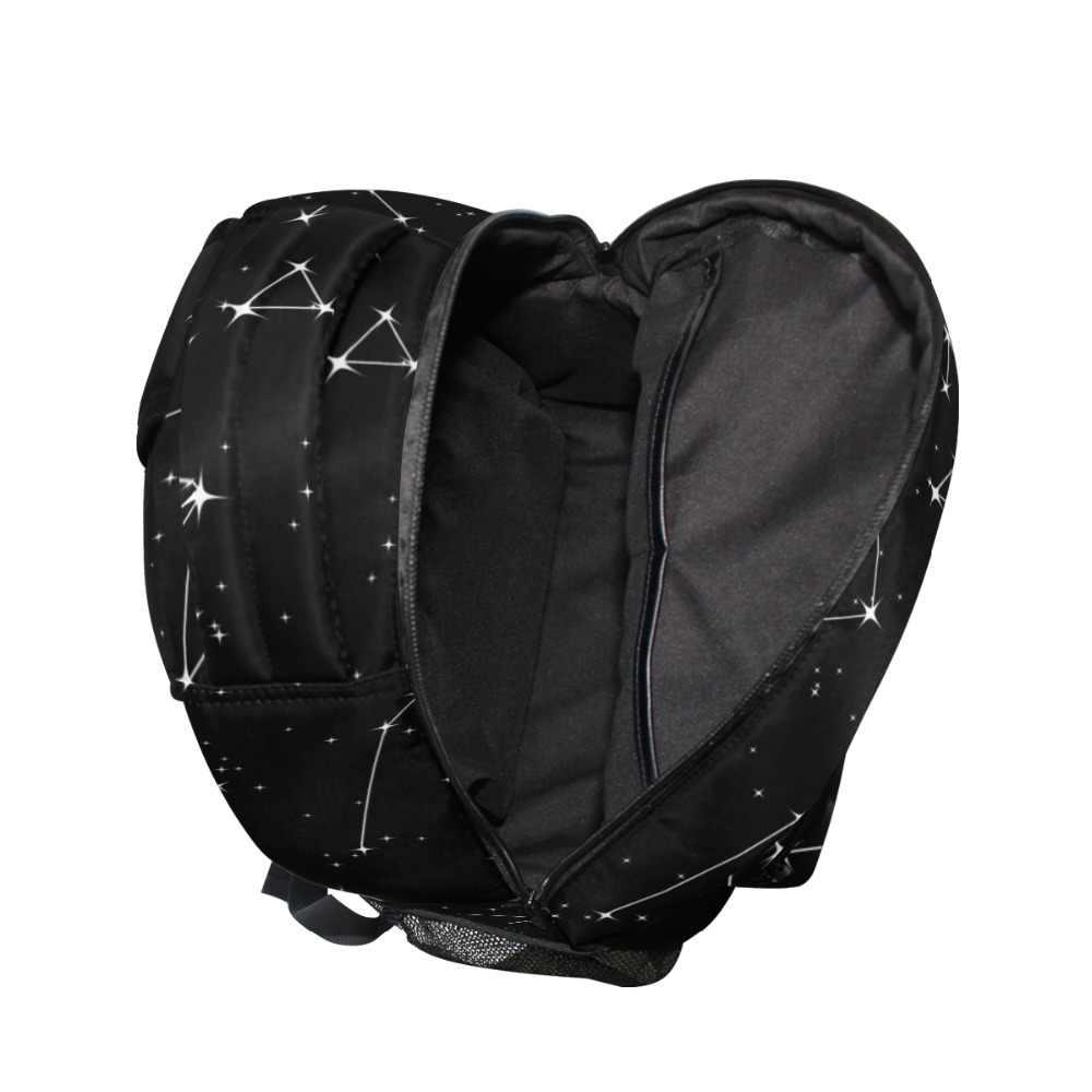 ALAZA 2019 черный рюкзак небо звезды печать женский большой емкости дорожная сумка студенческая школьная сумка для ноутбука рюкзак для мужчин подарок