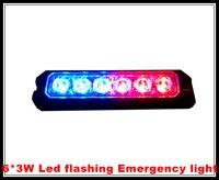 DC12 24V 6 CREE 3W Bright Led Surface Mount Car Grill Lighthead Warning Light Flashing Light