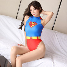 printing Comic superman Tighten High fork Buttocks body sexy lingerie bodystocking sexy costumes catsuit body suit open crotch new printing comic xiao qiao game role play tighten body sexy lingerie bodystocking sexy costumes catsuit body suit open crotch