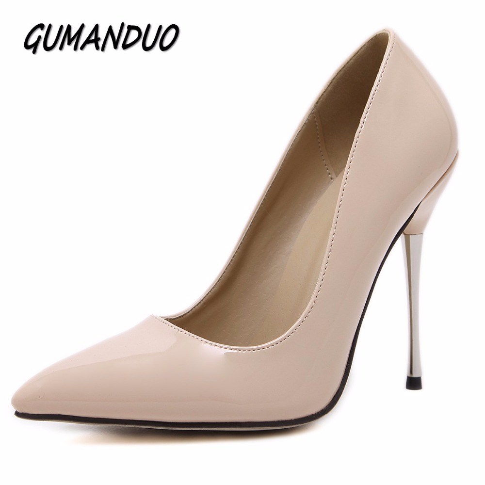 GUMANDUO women pumps pointed toe high heels shoes woman party wedding dress OL ladies stiletto shoes metro heels size 35-40 тканевая маска tony moly pureness 100 pearl mask sheet объем 21 мл