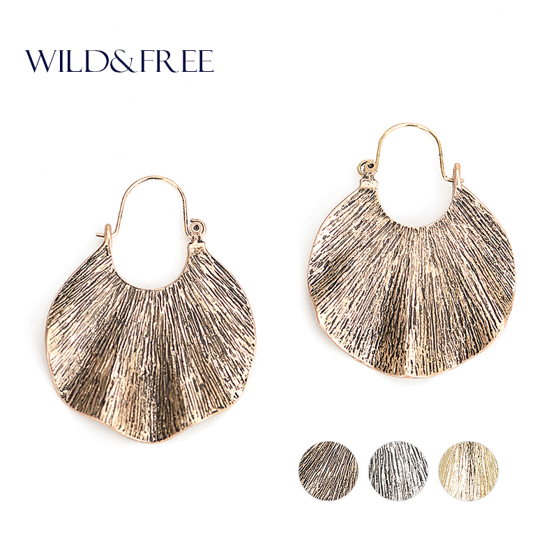 Wanita Trendy Gaya Emas Geometris Bentuk drop Earrings Vintage Zinc - Perhiasan fashion - Foto 1