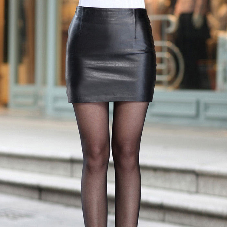 Online Shop PU Faux Leather Pencil Skirt mini Bodycon Short Black ...