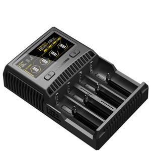 Image 3 - NITECORE SC4 akıllı hızlı şarj süper şarj cihazı 4 yuvaları 6A toplam çıkış IMR 18650 14450 16340 AA pil + araç şarj cihazı D5