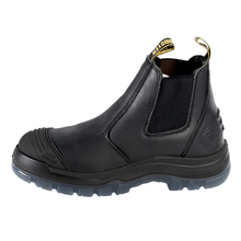 Leather Men Chelsea Boots Steel Toe Cap Anti Smashing Breathable Light Work Safety Shoes Autumn Winter