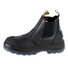 Leder Männer Chelsea Stiefel Stahlkappe Anti-Smashing Atmungs Licht Arbeitssicherheit Schuhe Herbst Winter Schuhe