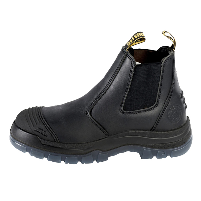 Men's Leather Safety Shoes Steel Toe Breathable Ankle Work Boots For Autumn