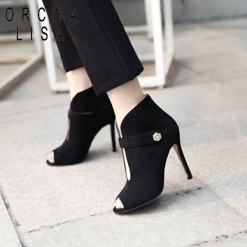 Dames red Lisa Parti Chaussures Hauts À C339 Boucle Toe De Pompes Orcha Talons Black Mariage D'été Cheville Femmes Troupeau Peep Bottes cRAqwyypY
