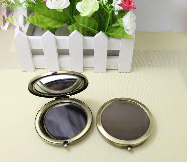 Flight Tracker 10 Stücke 70 Mm Bronze Taschenspiegel Metall Kreis Leere Kosmetikspiegel Diy Logo Werbegeschenke-kostenloser Versand Herausragende Eigenschaften Haut Pflege Werkzeuge