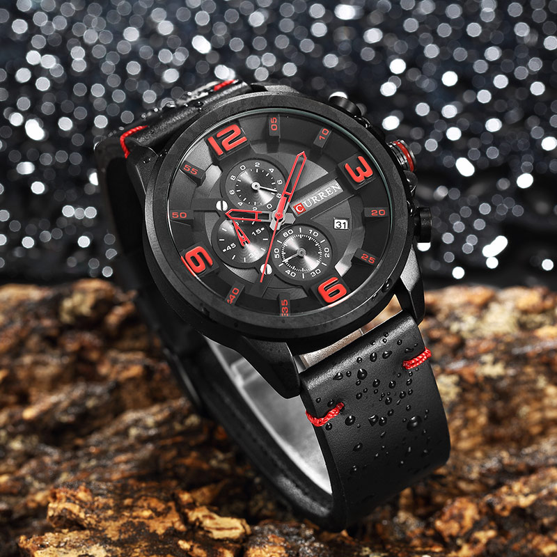 Relogio Masculino New Curren 8288 Mens Watches Top Brand Luxury Leather Men Quartz Watch 2018 Casual Sport Clock Male Wristwatch hongc watch men quartz mens watches top brand luxury casual sports wristwatch leather strap male clock men relogio masculino