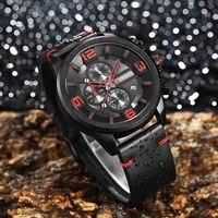 Relogio Masculino New Curren 8288 Mens Watches Top Brand Luxury Leather Men Quartz Watch 2018 Casual