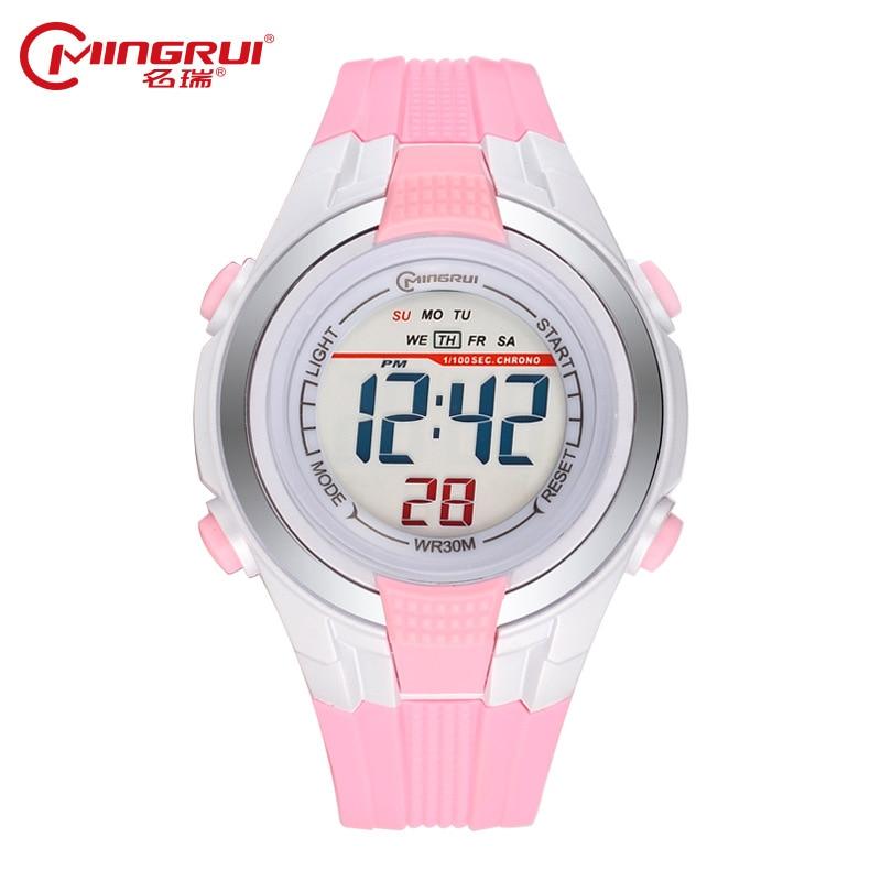 MINGRUI Children Wrist Watch Waterproof Silicone Digital Watches Kids Fashion LED Sport Watch Students Watches Hour Clock Gift цена
