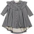 2016 Invierno Ins Enfant Bata Petite Fille De Princesse Cenicienta Princesa Vestido de la Muchacha Niñas vestidos de Centelleo