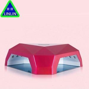 Image 1 - LINLIN Iki el elmas manikür lambası, 60 W güneş ışığı fototerapi makinesi, tırnak makinesi soğuk ışık kaynağı zarar vermez eller.