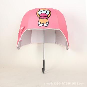 Helmet Umbrella Long Handle Anti UV Anime Clear Umbrella Rain Women Parasol Garden Kinder Paraplu Sun Umbrellas Umberlla 50R327