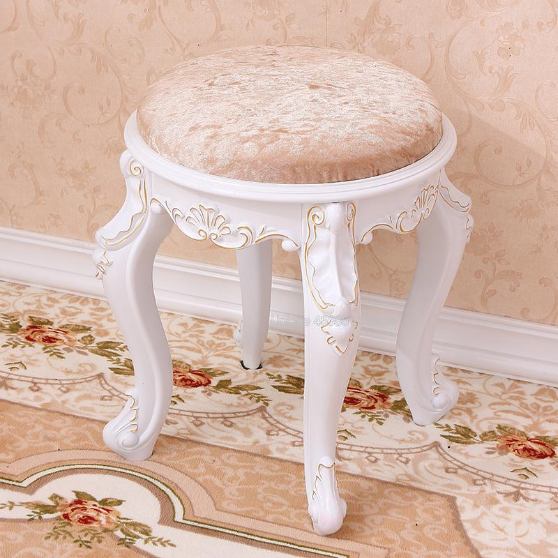 Living Room Furniture 40x30x30cm Europe And America Square/ Round Stool Home Living Room Seat Dressing Table Chair Change Shoe Bench Footstool Ottoman