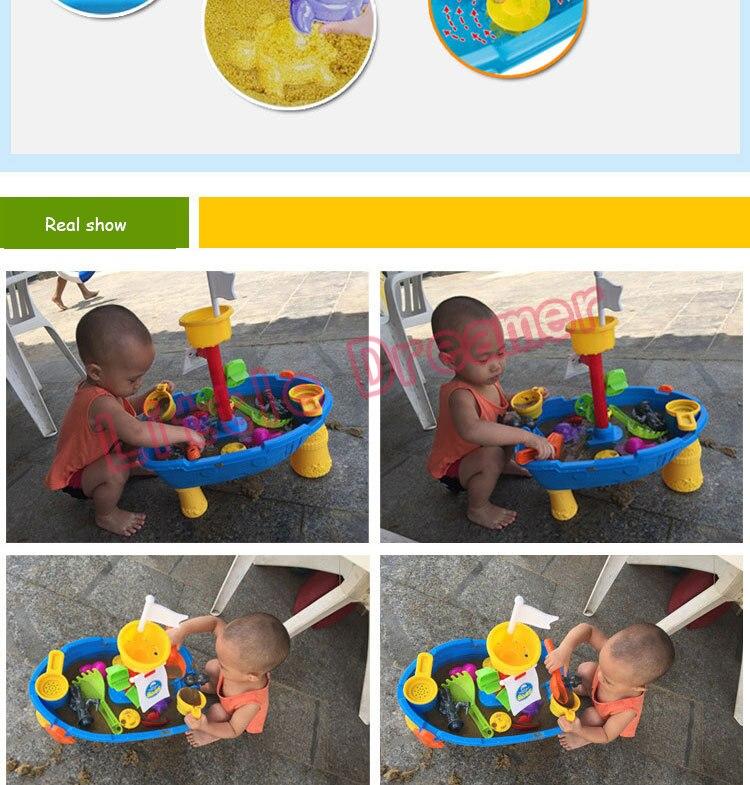 Navio pirata plástico brinquedos de praia crianças