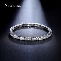 Classic AAA Square 3mm Swiss Cubic Zirconia Diamond Tennis Bracelet For Woman JingJing JB032