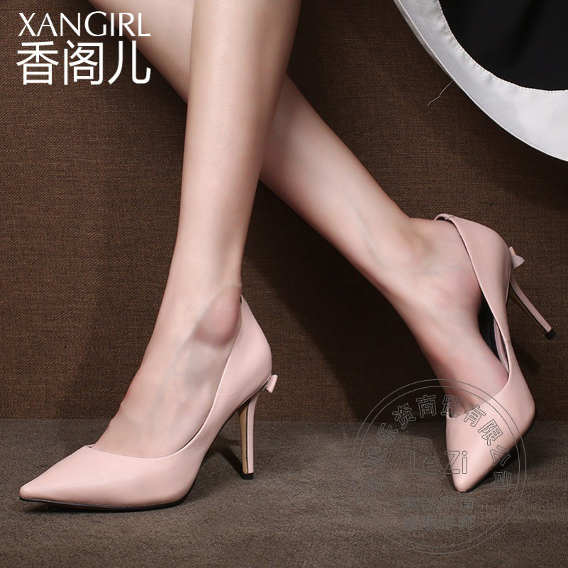 Elegant New Brand Shoes font b Women b font Designer Pointy Most Popular Solid Color Metal