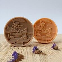 Николь ручной работы силиконовые формы для мыла круглый рельеф ремесло смолы глины шоколадные конфеты плесень