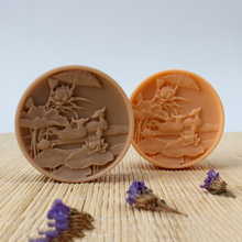 Nicole Natural Handmade Soap Silicone Mold Round Relief Craft Resin Clay Chocolate Candy Mould