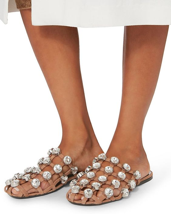 Qualité as Sandales Pearl En Clouté Découpe Chaussures Haute Femmes Show Appartements As Show Cage Diapositives Pearl D'été Pantoufles as Occasionnels Glissement Cuir Femme Piste Sur dAqnYRw