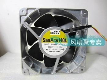 SANYO DENKI 9LB1424S501 DC 24V 1.38A 140x140x51mm Server Cooling Fan