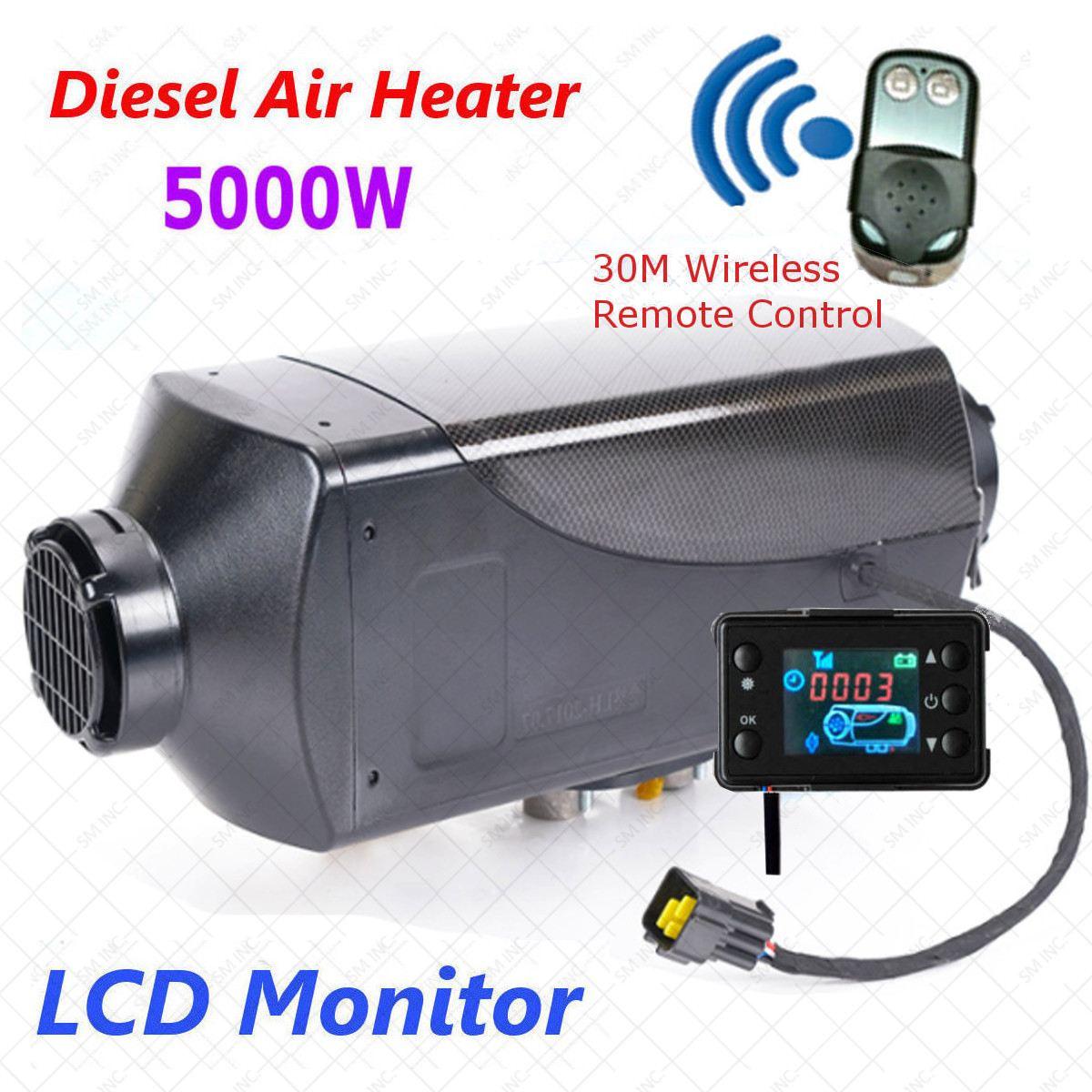 5KW 12 В Air дизелей нагреватель стояночный отопитель с дистанционным Riscaldatore ЖК-дисплей монитор автомобиля нагреватель